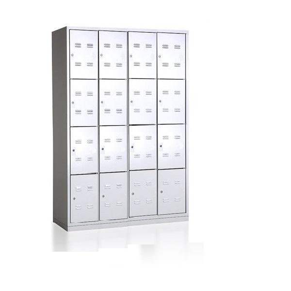 bhp1200-4-16-metalinė-asmeninių-daiktų-spintelė-4 lygių-16 durelių-classic