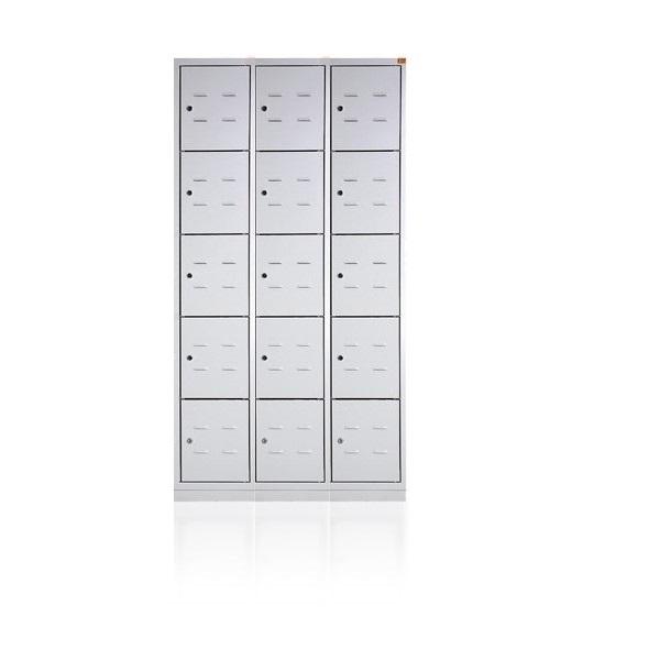 bhp900-3-15-1-metalinė-asmennių-daiktų-spintelė-5 lygių-15 durelių- classic