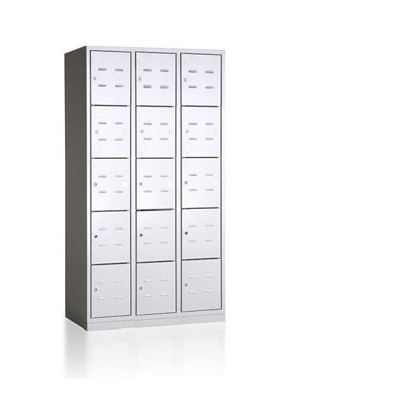 bhp900-3-15-metalinė-asmennių-daiktų-spintelė-5 lygių-15 durelių- classic
